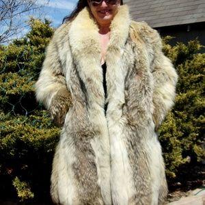 Coyote Fur Coat >> Custom Made Jackets Coats Size 68 Medium Coyote Fur Coat